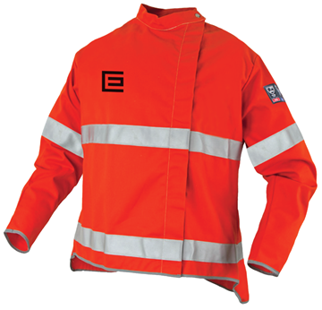 Picture of Orange Proban High Visibility Welding Jacket with Reflective Trim