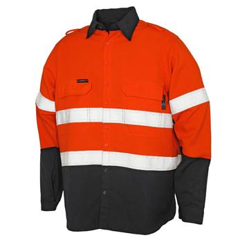Picture of Tecasafe Plus Men's FR Classic Shirt - Orange/Navy