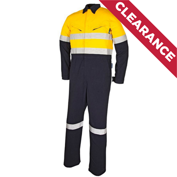 Picture of Tecasafe Plus Ultimate 7.0oz FR Coverall  - Yellow/Navy