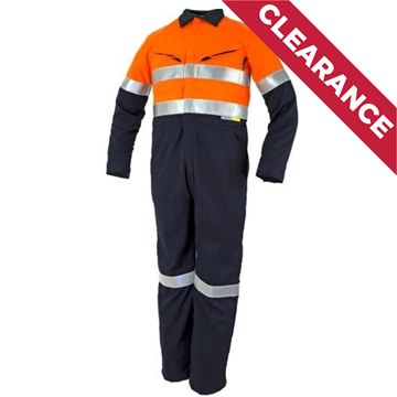 Picture of Tecasafe Plus Ultimate 7.0 oz FR Coverall - Orange/Navy Reflective Trim