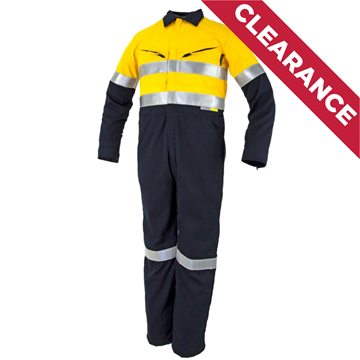Picture of Tecasafe Plus Ultimate 5.8oz FR Coverall - Yellow/Navy