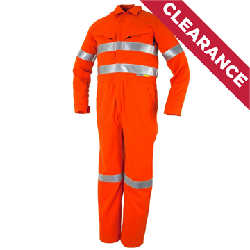 Picture of Tecasafe Plus Ultimate 5.8oz FR Coverall - Orange with Reflective Tape