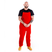 Picture of Big Red Leather Chaps with Bib Apron