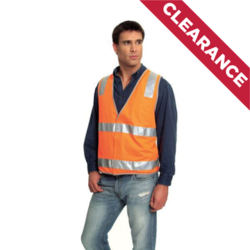 Picture of Safety Vest - Fluoro Orange | Ref Trim Style 3 | Class D/N
