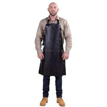 Picture of Grain Leather Bib Style Welding Apron
