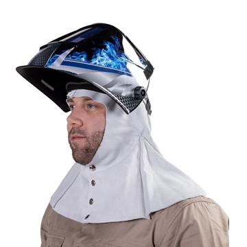 Picture of Blue Max Chrome Leather Welder's Hood