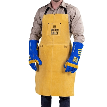 Picture of The GOLDEN CHIEF  Premium Leather Welding Apron